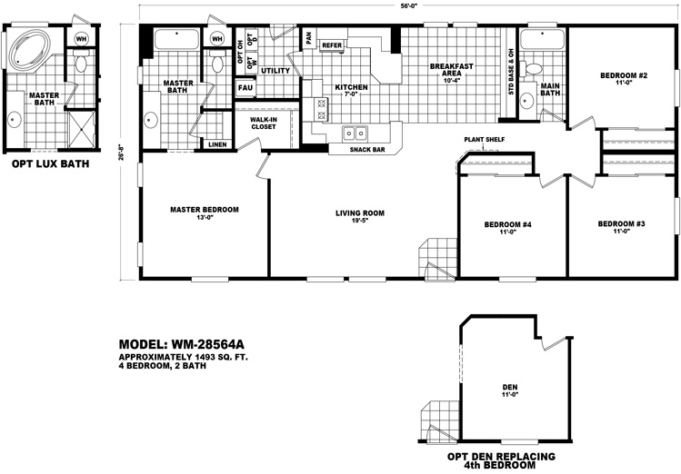 Coastal series wholesale manufactured homes for Coastal modular home plans