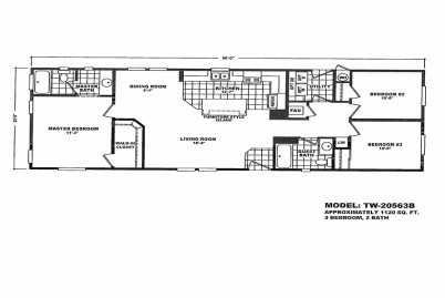 2 Section Tiny Homes TW-20442A | Wholesale Manufactured Homes